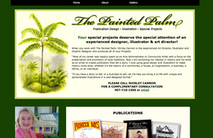 The Painted Palm Website